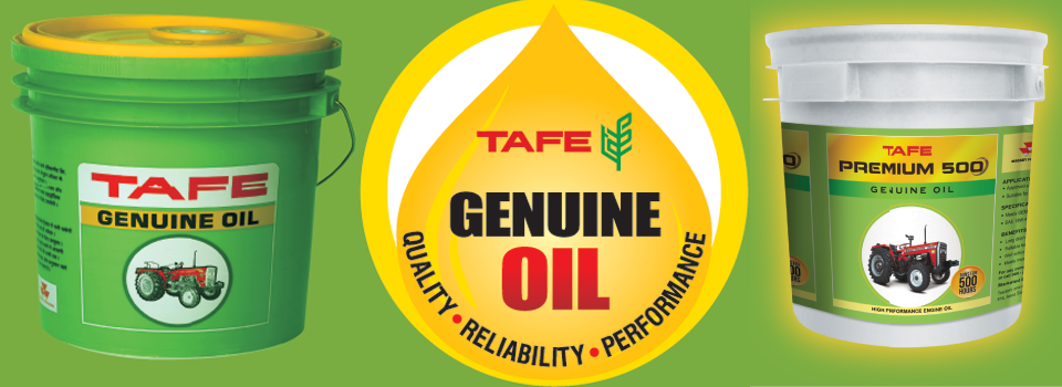 TAFE Genuine Oil are used for High performance in Massey Ferguson Tractors.